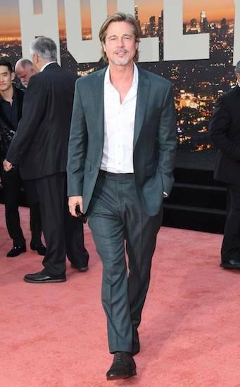 Brad Pitt tại buổi công chiếu Once Upon A Time In Hollywood ở thành phố Los Angeles (Mỹ) hôm 22/7. Ảnh: Eonline.