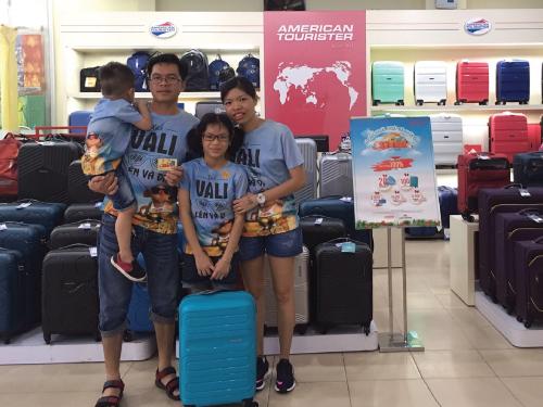 Khách hàng Phạm Hải Anh trúng thưởng Vali American Tourister Sunside tại cửa hàng American Tourister Coopmart Phan Văn Trị ngày 16/06/2019