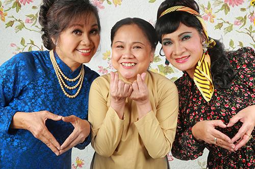 Từ trái qua: Xuân Hương, Ái Như, Bích Ngọc.