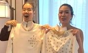 Áo dài cưới H'Hen Niê tặng Hoa hậu Thái Lan do 10 người may