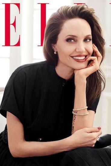 Angelina Jolie trên ảnh bìa tạp chí Elle số mới nhất.