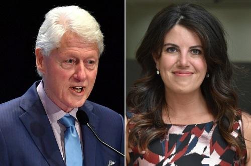 Bill Clinton (trái)và Monica Lewinsky. Ảnh New York Post.