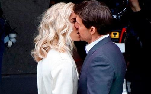 Vanessa Kirby có cảnh hôn Tom Cruise trong Mission: Impossible - Fallout. Ảnh: Paramount.