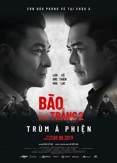 Poster Bão trắng 2 với lịch khởi chiếu tại Việt Nam.