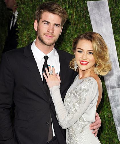 Miley Cyrus và Liam Hemsworth khi còn bên nhau.