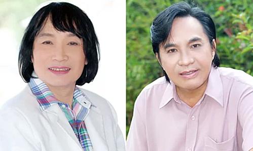 Nghệ sĩ Minh Vương (trái) và Thanh Tuấn.