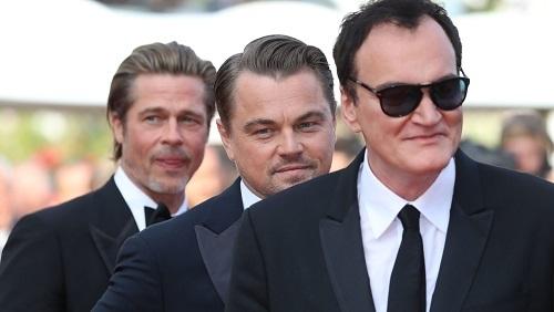 Từ phải sang: Quentin Tarantino, Leonardo DiCaprio và Brad Pitt (hai diễn viên chính của Once Upon a Time in Hollywood). Ảnh: GQ.