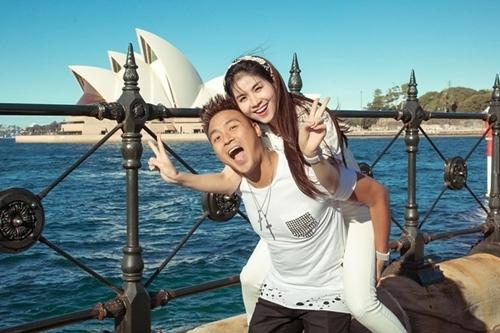 Vợ chồng Kha Ly du lịch Australia hồi tháng 7 kỷ niệm ba năm kết hôn.
