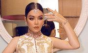 Lý Nhã Kỳ diện váy thêu chỉ vàng dự sinh nhật đại gia Ấn Độ