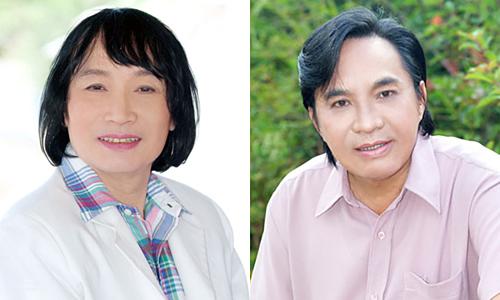Nghệ sĩ Ưu tú Minh Vương (trái) và Thanh Tuấn.