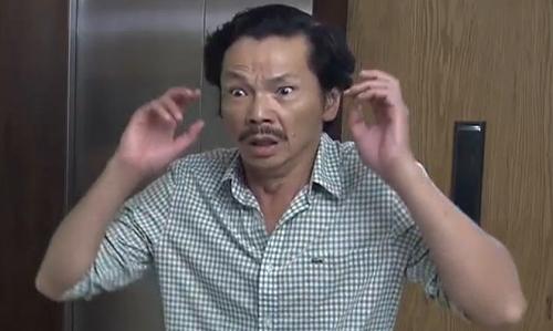 Biểu cảm của diễn viên Trung Anh trong cảnh phát hiện con gái hôn người đồng giới.