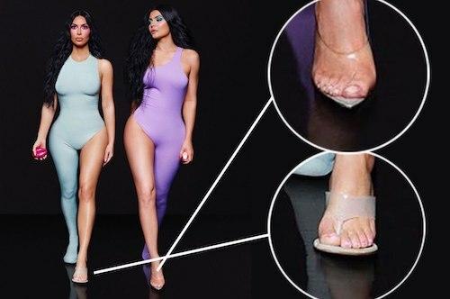 Bức ảnh của Kim Kardashian (trái). Ảnh: Pagesix.