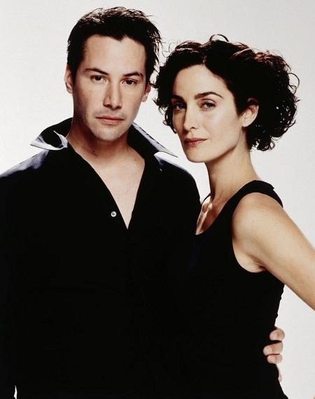 Keanu Reeves và Carrie-Anne Moss thời đóng Matrix. Ảnh: