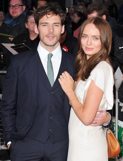 Sam Claflin và vợ Laura Haddock. Ảnh: Backgrid.