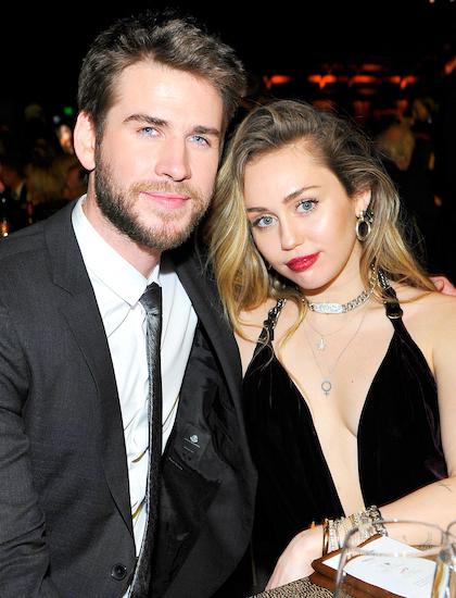 Liam Hemsworth và Miley Cyrus. Ảnh: US Weekly.