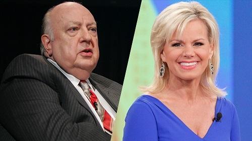 Roger Ailes (trái) và Gretchen Carlson. Ảnh: AP, Fox News.