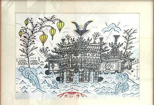 Tranh vẽ lấy cảm hứng từ Chùa Cầu của họa sĩ Lin Shu Kai. Triển lãmkéo dài từ 18đến 31/8 tại Nhu Garden ở Hội An.