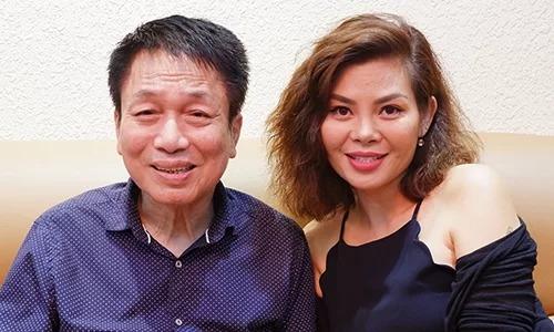 Nhạc sĩ Phú Quang bên ca sĩ Ngọc Anh.
