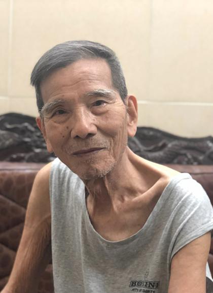 Nghệ sĩ Trần Hạnh ở tuổi 90.