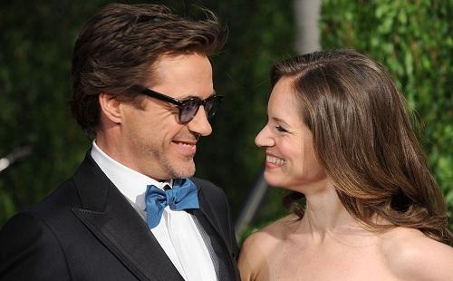 Người Sắt Robert Downey Jr. và vợ Susan Levin. Ảnh: Wired Image.