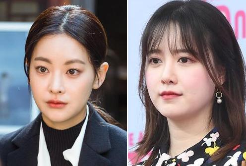 Oh Yeon Seo (trái) và Goo Hye Sun. Ảnh: Newsen.