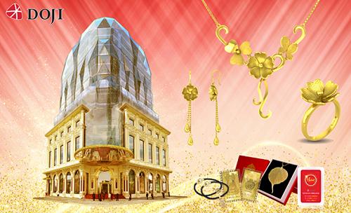 Từ 7/9 đến 15/9, ngoài trải nghiệm không gian mua sắm đẳng cấp tại DOJI Tower, cặp đôi vừa sở hữu nhẫn cưới nhẫn cưới, nhẫn đính hôn mới nhất mùa cưới 2019, vừa nhận ngay nhẫn hồi môn vàng 24K giá trị. Mỗi cặp đôi sẽ được nhận thêm phiếu ưu đãi 20% đồng hồ chính hãng với nhiều thương hiệu nổi tiếng trên thế giớiMichael Kors, Versace...