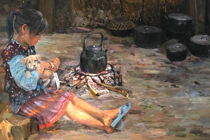 Nét đẹp vùng cao qua tranh họa sĩ Mường