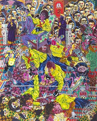 Tác phẩm Võ đài học đường ấn tượng của họa sĩ Bùi Quốc Khánh.