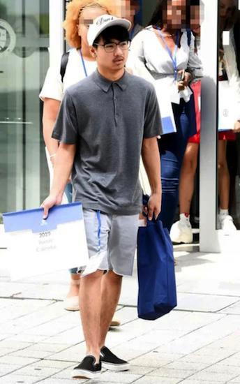Maddox học tại Hàn Quốc. Ảnh: Osen.