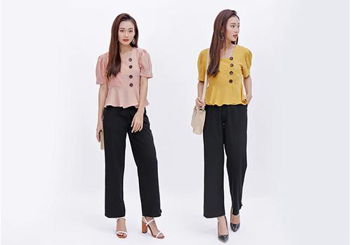 Áo peplum công sở thời trang Eden - ASM044 với phom dáng thời trang, phù hợp cho bạn gái công sở. Bạn có thể phối áo cùng quần jean, chân váy hoặc quần culottes để làm mới phong cách văn phòng. Nếu có vòng 3 lý tưởng, chân váy bút chì chính là gợi ý thích hợp cho bạn khi kết hợp với áo tay bồng. Muốn nhấn nhá ưu thế chân dài, quần ống rộng cạp cao sẽ là lựa chọn ấn tượng. Áo có hai màu vàng và hồng, đồng giá 249.000 đồng.