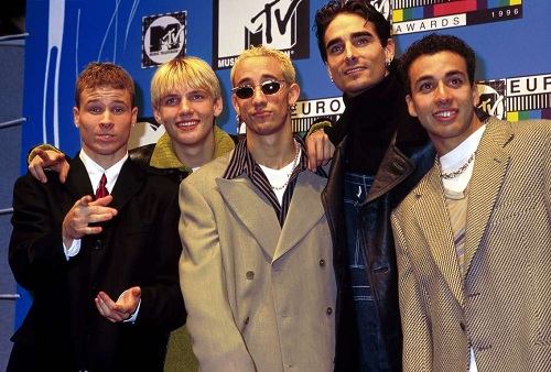 Tháng 4/1996, Backstreet Boys phát hành album đầu tay cùng tên ban nhạc tại. Album chỉ được phát hành tại thì trường nước ngoài và dành nhiều thành công tại châu Âu, đặc biệt là Đức. Cũng trong năm 1996, năm chàng trai nhận giải thưởng lớn đầu tiên tại MTV European Music Award với MV của ca khúc Get Down. Ảnh: Redferns.