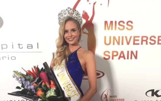 Nhan sắc sinh viên đăng quang Miss Universe Spain 2019