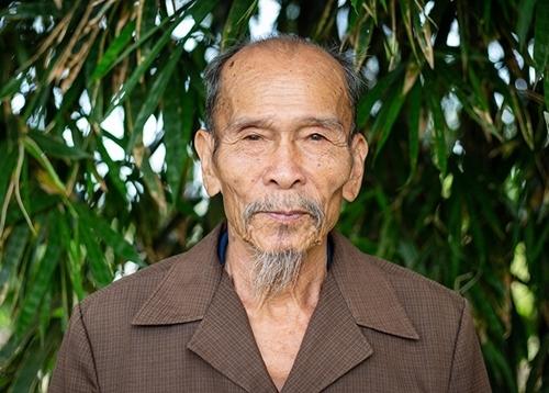Anh hùng phi công Nguyễn Văn Bảy ở quê nhà Đồng Tháp năm 2018. Ảnh: Thành Nguyễn.