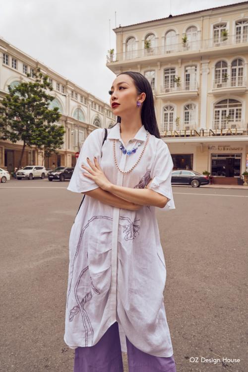 Linh Nga làm nàng thơ cho Oz Design House - 6