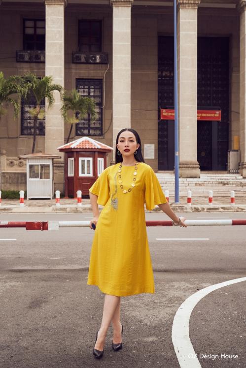 Linh Nga làm nàng thơ cho Oz Design House