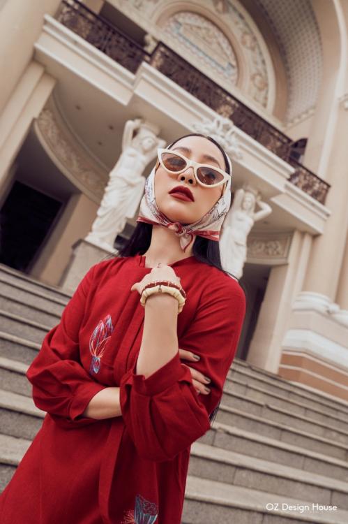 Linh Nga làm nàng thơ cho Oz Design House - 4