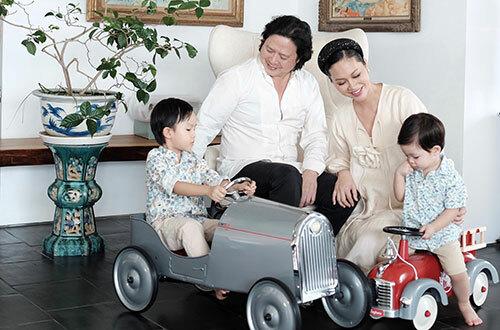 Gia đình diễn viên Đỗ Hải Yến. Ảnh: ĐHY.