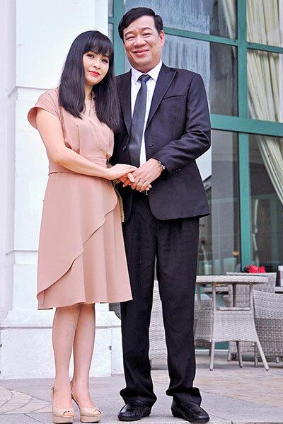 Vợ chồng Trang Nhung - doanh nhân Ngô Nhật Phương. Ảnh: TN.