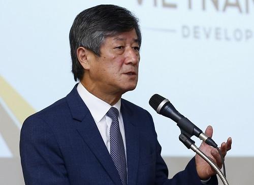 Ông  Lee Yong-kwan - giám đốc LHP Busan - đến dự sự kiện. Ảnh: ban tổ chức.