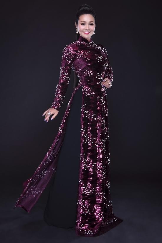 Ngọc Huyền làm mẫu áo dài
