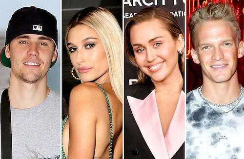 Justin Bieber muốn cùng vợ mới cưới Hailey Baldwin hẹn hò đôi cùng cặp Miley Cyrus - Cody Simpson. Ảnh: People.