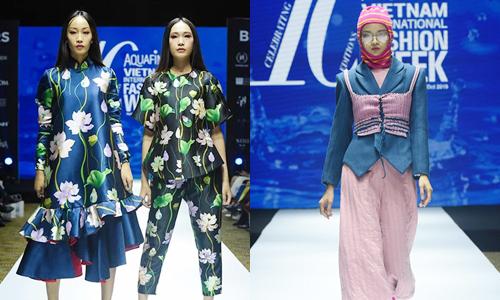 Một số thiết kế trong tuần lễ được giới thiệu ở buổi họp báo hôm 10/10 tại Hà Nội. Ảnh:VIFW.