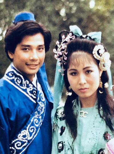Vợ chồng Lê Tuấn Anh, Hồng Vân thời trẻ. Ảnh: HV.