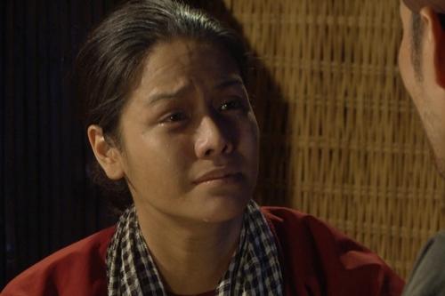 Tạo hình của Nhật Kim Anh trong vai Thị Bình khi về già. Ảnh: HA.