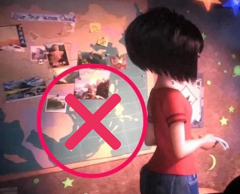 Cảnh phim có hình ảnh bản đồ chứađường lưỡi bò được chia sẻtrên mạng xã hội. Ảnh: DreamWorks.