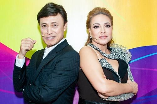 Thanh Hà và Tuấn Ngọc khi làm huấn luyện viên Giọng hát Việt 2019. Ảnh: CTS.