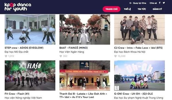 Đội nhảy C2 - Đại học Bách Khoa Hà Nội có lượt bình chọn dẫn đầu ở tuần thi đầu tiên, vòng online cuộc thi Kpop Dance For Youth