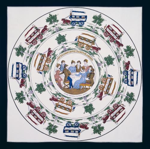 Jeu des omnibus et dames blanches - chiếc khăn lụa đầu tiên của Hermès, mở màn cho một kỉ nguyên hoàng kim của những chiếc khăn lụa tung bay, ngự trị trên cổ, trên vai những quý phu nhân thanh lịch Paris và thế giới.