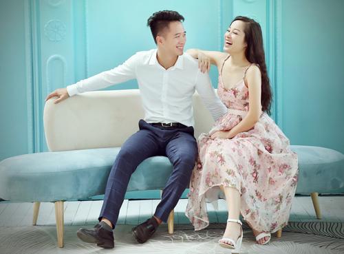 Minh Hương và chồng - Lê Huỳnh.