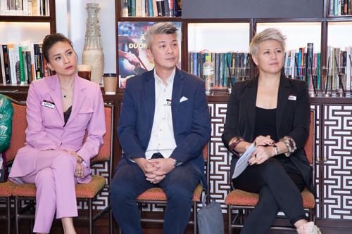 từ trái sang phải: Ông Raphael Phang – Phụ trách Nội dung khu vực Đông Nam Á của Netflix; Ngô Thanh Vân – Nhà sản xuất kiêm diễn viên chính bộ phim Hai Phượng, Bà Erika North – Phụ trách các tác phẩm Netflix quốc tế đã có mặt tại sự kiện tại Tp. Hồ Chí Minh để giới thiệu giao diện tiếng Việt trên Netflix cho người dùng